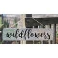 """Wildflowers Metal Sign 19.5""""x4.75"""""""