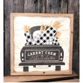 "Carrot Farm Truck Sign     12"" x 12"""