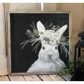 "White Bunny Sign    16"" x 16"""
