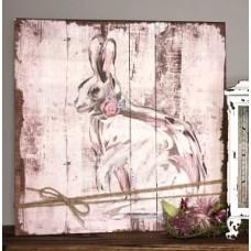 "Bunny Wood Sign     16"" x 16"""