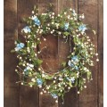 Blue/White Berry Mix Wreath 20""