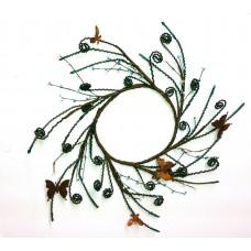 """Jute Butterfly Wreath Green 18"""""""