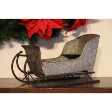 "Antique Metal Sled 7.5"" x 6"" x 12"""