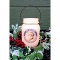 """St. Nick LED Keeping Jar Candle  with Timer 5.25"""""""