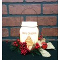 """Merry Christmas LED Keeping Jar Candle with Timer 5.25"""""""