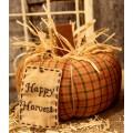"""Happy Harvest Plaid Pumpkin 6.5"""" x 6.5"""""""