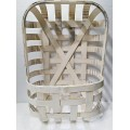"Tobacco Basket with Pocket Cream 24"" x  14"""