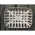 "Tobacco Basket Rectangle Cream 5"" x 17"" x 22"""